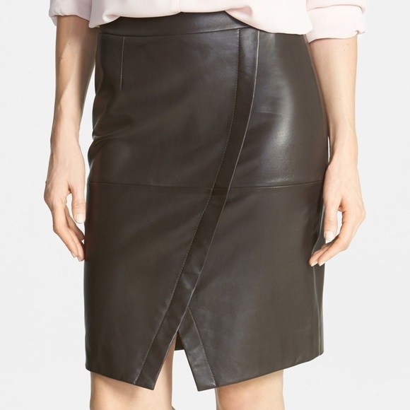 0955d098d Halogen Dresses & Skirts - Halogen Seamed Leather Pencil Skirt